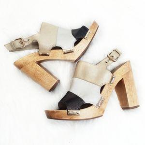 Trina Turk   Pasadena Wooden Block Heels
